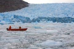 San Rafael glaciär - Patagonia - Chile Royaltyfri Foto