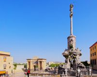 San Rafael Monument in Cordoba, Spain Royalty Free Stock Image