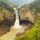 San Rafael Waterfall In Ecuador royalty free stock photos