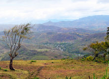San Ramon Overlook. Looking into the valley at the city of San Ramon, Nicaragua stock images