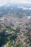 San Ramon from a plane. Alajuela, Costa Rica - May 24 : Aerial view of the city of San Ramon, Costa Rica. May 24 2016, Alajuela Costa Rica Stock Photos