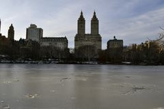 San Remo apartments in winter Stock Images