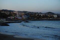 San Remo Beach Royalty-vrije Stock Foto's