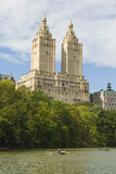 San Remo Building. The San Remo Building stands above Central Park. This building is the scene of the famous Ghostbusters and their battle with the Stay Puff stock photos