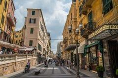 San Remo główna ulica Obraz Stock