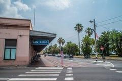 San Remo Stary dworzec obrazy stock