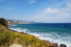 San Remo town and coast Royalty Free Stock Images