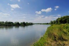 San river. In Poland (Bieszczady region Royalty Free Stock Photography