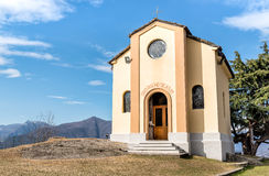 San Rocco Church in Campagnano, Maccagno with Pino and Veddasca, Italy Royalty Free Stock Photos