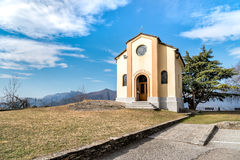 San Rocco Church in Campagnano, Maccagno with Pino and Veddasca, Italy Stock Images
