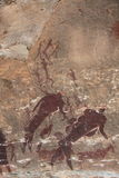 San rock art bushman painting Royalty Free Stock Photo