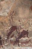 San rock art bushman painting royalty free stock photo