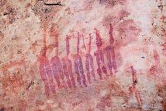 San rock art in Cederberg Mountains South Africa. Ancient bushman paintings on Sevilla Rock Art trail in Cederberg Mountains, South Africa Stock Photos