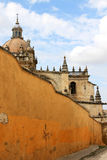 San Salvador大教堂,赫雷斯de la弗隆特里 库存照片