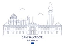 San Salvador City Skyline, Salvador Image stock