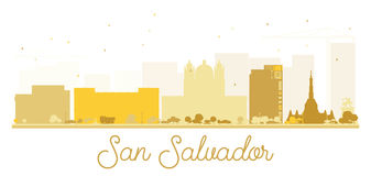 San Salvador City skyline golden silhouette. Royalty Free Stock Image