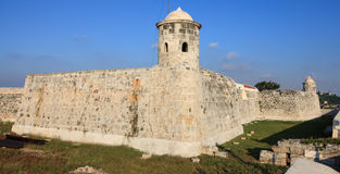 San Salvador de la Punta Fortress. In Havana. Cuba Stock Image