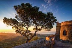 San Salvador Mallorca przy wschód słońca obraz royalty free