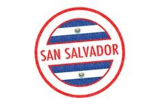 SAN SALVADOR. Passport-style SAN SALVADOR capital of El Salvador rubber stamp over a white background Stock Images