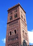 San Salvador tower, Teruel. View of the ornate San Salvador church tower, Teruel, Teruel Province, Aragon, Spain, Western Europe Royalty Free Stock Image