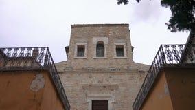 San Salvatore bazyliki zewnętrzna fasada, Umbria, Unesco światowe dziedzictwo zbiory
