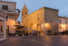 San Salvatore kyrka Silvi Paese Italy Arkivbild