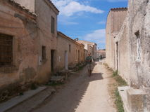 San Salvatore, spookstad, Sardinige Royalty-vrije Stock Foto