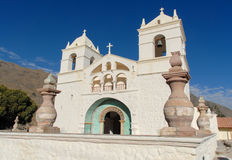 San Santa Ana de Maca Church, Perù Immagine Stock