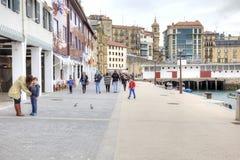 San Sebastián cityscape Europäische Kulturhauptstadt Lizenzfreie Stockfotografie
