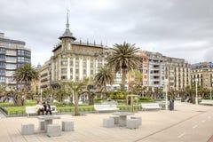 San Sebastián cityscape Europäische Kulturhauptstadt Stockbilder