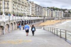 San Sebastián cityscape Europäische Kulturhauptstadt Lizenzfreie Stockfotos
