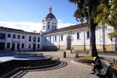 San Sebastián Kirche, Cuenca, Ecuador Stockbilder