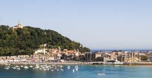 San Sebastián Stadtbild Lizenzfreies Stockfoto
