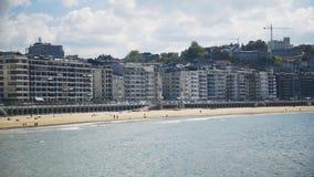 San Sebasti n miejscowość wypoczynkowa na zatoce Biskajski w Baskijskim kraju, plaża zdjęcie wideo