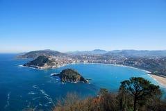 海湾San Sebastian西班牙 免版税库存照片