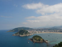 San Sebastian. Gulf la Concha viewed from Higueldo summit Royalty Free Stock Photography