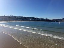 San Sebastian, Baskijski kraj, miasto, Hiszpania Plaża losu angeles Concha od mola, panoramiczny widok Obrazy Royalty Free