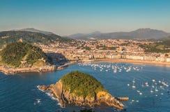 San Sebastian in Baskisch Land Noordelijk Spanje Royalty-vrije Stock Afbeeldingen