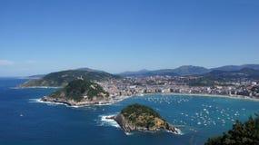 San Sebastian Bay panorama Royalty Free Stock Photography