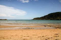 San sebastian beach royalty free stock photography