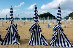 San Sebastian beach. Sunshade San Sebastian Beach Sand Spain Chair Stock Photos