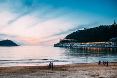 San sebastian beach travel spain Stock Photo