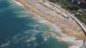 San Sebastian Beach and waves Royalty Free Stock Image