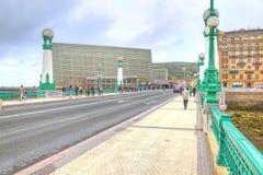San Sebastian. Bridge across the river Urumea Stock Photo