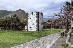 San Sebastian capital la La Gomera avec Torre del Conde Image libre de droits