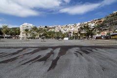 San Sebastian capital la La Gomera, repéré de la plage noire Photo libre de droits
