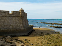 San Sebastian castle. Cadiz, Andalusia. Spain Stock Image