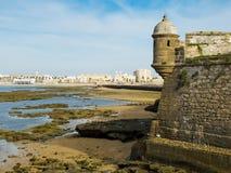San Sebastian castle. Cadiz, Andalusia. Spain Stock Photography