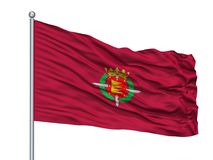 San Sebastian City Flag On Flagpole, Espanha, isolada no fundo branco ilustração royalty free
