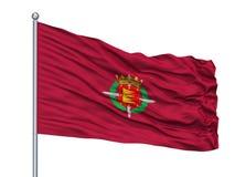San Sebastian City Flag On Flagpole, Spanien som isoleras på vit bakgrund royaltyfri illustrationer